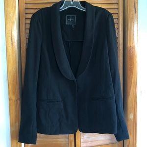 7 For All Mankind Black Blazer Jacket 7FAM 7FAMK